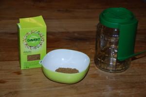 Kleimglas und Alfalfa-Samen